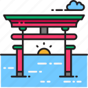 gate, torii gate, kyoto, japanese, japan, arch, gateway