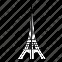 building, paris, tower, eiffel