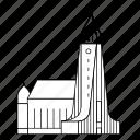 building, church, iceland, reykjavik