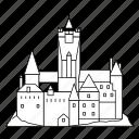 building, castle, draculas, romania