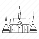 temple, thailand icon