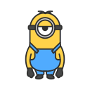 despicable me, minion, stuart, stuart minion icon