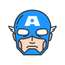 avengers, captain, captain america, super hero icon