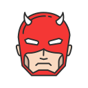 daredevil, marvel, mutant, super hero icon