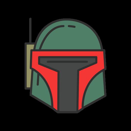 bounty hunter, robot, spacecraft, starwars icon