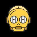 c3po, r2d2, robot, starwars icon