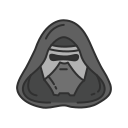 darth sidous, evil, starwars, villain icon