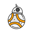 droid, r2d2, robot, starwars icon