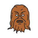 chewbacca, han solo, starwars, wookie icon