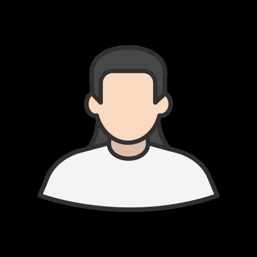 avatar, long hair, man, user icon