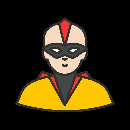 bald hero, mask, ninja, super hero icon