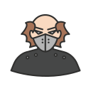 goon, villain, kidnapper, thief icon