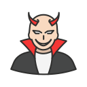 bad, devil, evil, villain icon