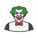 clown, halloween, joker, killer icon
