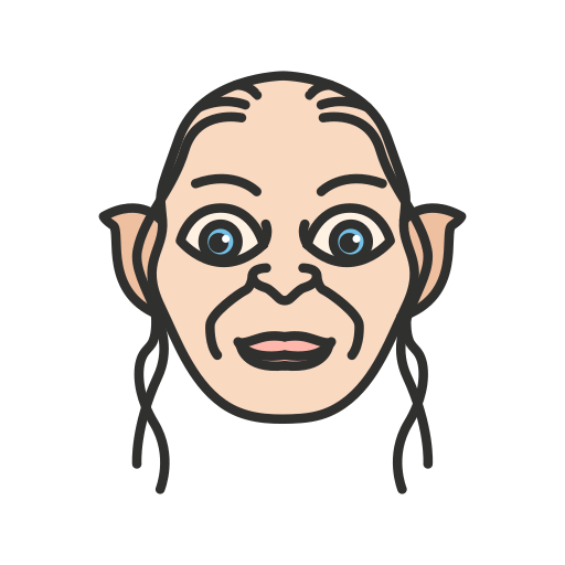 elf, gollum, lord of the rings, smeagol icon