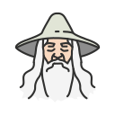 gandalf, lord of the rings, old man, wizard icon