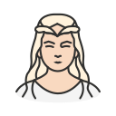 elf, lady, lord of the ring, princess icon