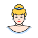 cinderella, disney princess, lady, princess icon