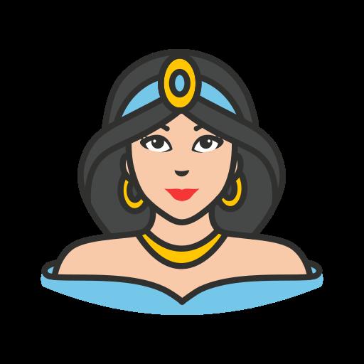 disney princess, jasmine, princess, queen icon