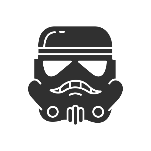 helmet, mask, starwars, storm trooper icon