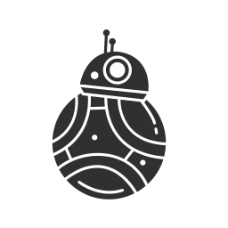 bb-8, droid, rtd2, starwars icon
