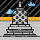 barabudur, borobudur, indonesia, java, jogjakarta, temple, yogyakarta icon