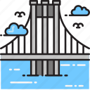 bridge, brooklyn, manhattan, new york, suspension icon