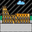 amphitheatre, coliseum, colosseum, italy, landmark, rome icon