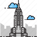 empire state building, manhattan, new york, new york city, nyc, skyscraper icon