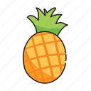 food, fruit, pineapple, vegetables icon