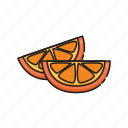 food, fruit, orange, slice icon
