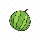 food, fruit, green, healthy, watermelon icon