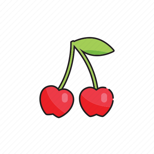 cherries, cherry, food, fruit, vegetables icon