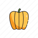 food, healthy, pepper, vegetables, yellow icon