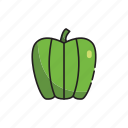 food, green, healthy, pepper, vegetables icon