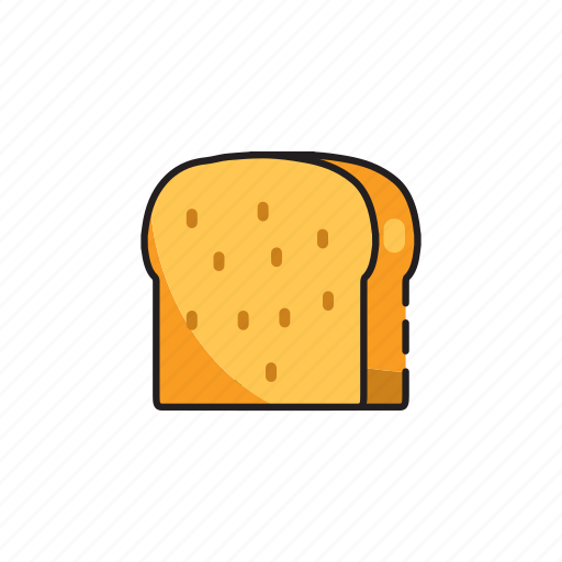 bread, breakfast, food, meal, toast icon