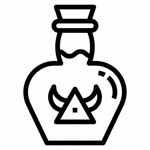 bottle, hp, medicine, poison, potion icon