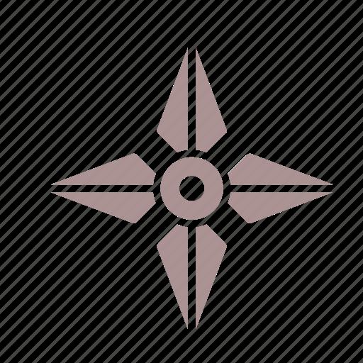fantasy, medieval, shuriken, weapon icon