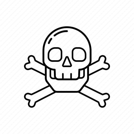 crossbones, danger, death, evil, poison, skeleton, skull icon