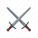 weapon, crossed, swords, blade, dungeons and dragons, fantasy, medieval