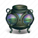 brew, cauldron, fantasy, halloween, mix, spooky, witches icon