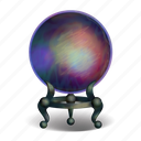 ball, crystal, fantasy, future, halloween, looking glass, magical icon