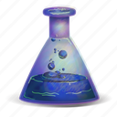 bottle, bubbling, elixir, fantasy, magic, poison, potion icon