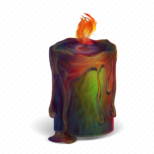 candle, fantasy, halloween, idea, light, melted, spooky icon