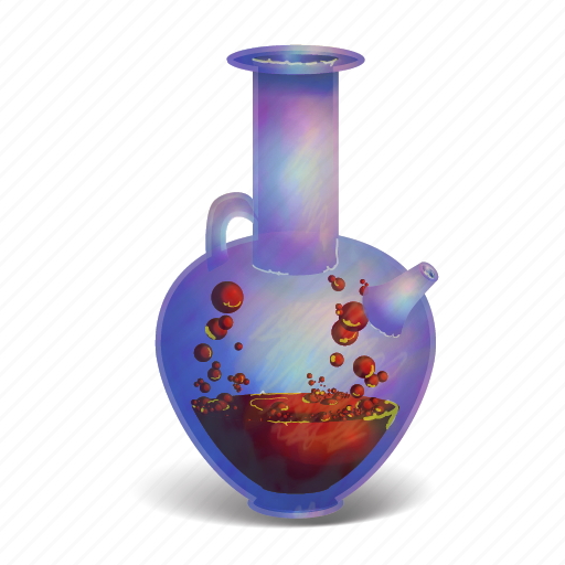 bottle, bubbling, fantasy, magic, poison, potion, witch icon