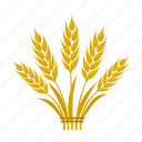 bread, farm, grain, growing, plant, spikelets, wheat icon