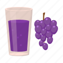 product, juice, drink, glass, grapes, bunch, wine icon