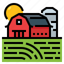 agriculture, barn, farm, silo icon