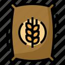 bag, farm, grain, pack, wheat icon