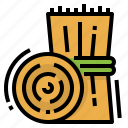 bale, dry, farm, hay, straw icon